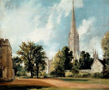 Salisbury Cathedral from the Close by John Constable
