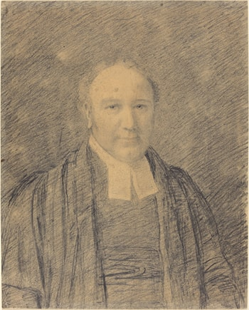 Half-Length Portrait of a Cleric by John Constable