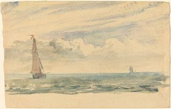 A Seascape with Two Sail Boats by John Constable