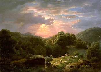 Landscape with Sheep by Robert Duncanson