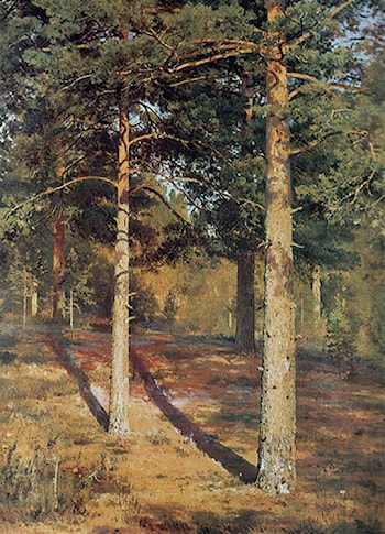 The Sun­lit Pines by Ivan Shishkin