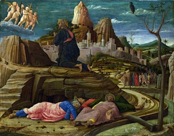 The Agony in the Garden of Gethsemane by Andrea Mantegna