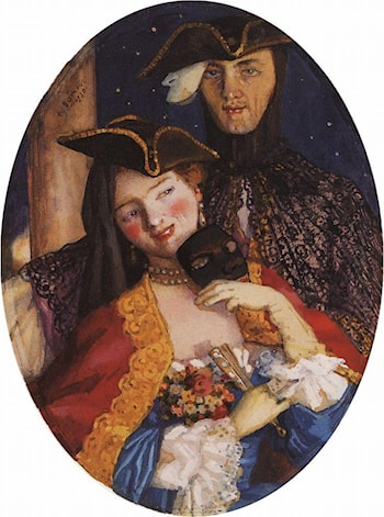 Two Masks (Pair on the Eve of the Carnival) by Konstantin Somov