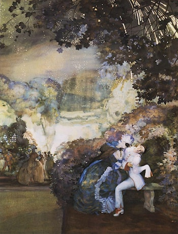 Lady and Pierrot by Konstantin Somov
