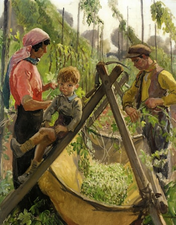 The Hop Pickers in Malvern by Laura Knight