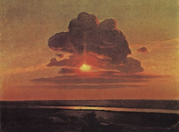 The Red Sunset. Sketch by Arkhip Kuindzhi
