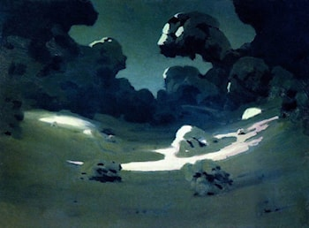 Moonlight in the Woods. Winter by Arkhip Kuindzhi