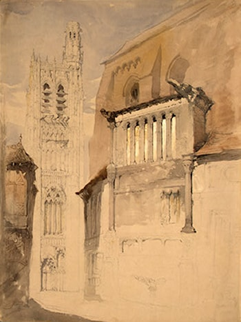 Tower of the Cathedral at Sens by John Ruskin