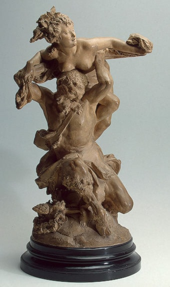 Satyre and Bacchante by Albert-Ernest Carrier-Belleuse