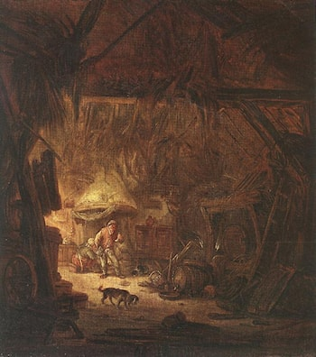 Interior of a Peasant House by Isack van Ostade
