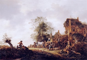 Travellers at a Country Inn by Isack van Ostade