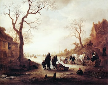 A Canal in Winter by Isack van Ostade