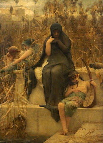 By the Waters of Bablon by Arthur Hacker