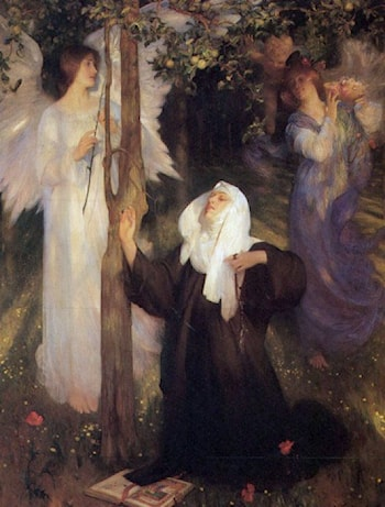 The Cloister or the World? by Arthur Hacker