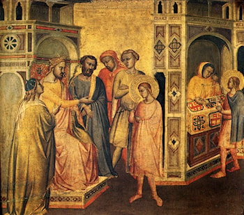 St. Eloi Before King Clotarius by Taddeo Gaddi