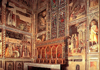 General view of the Baroncelli Chapel by Taddeo Gaddi