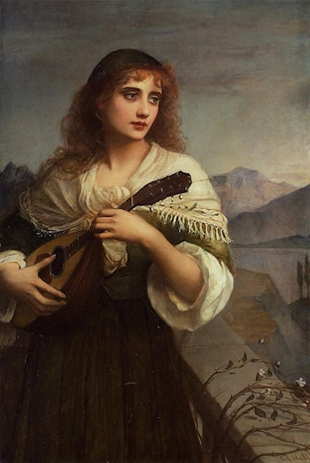 Francesca and Her Lute by Edward Charles Halle
