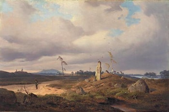 Landscape with Rune Stone by Andreas Achenbach