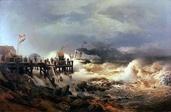 Storm at Dutch Coast by Andreas Achenbach
