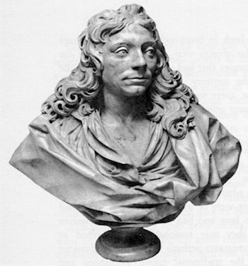 Bust of Sir Christopher Wren by Edward Pearce