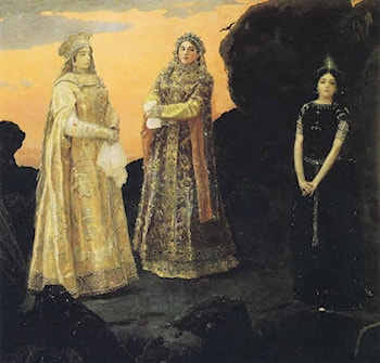 The Three Tsarevnas of the Underground Kingdom by Victor Michailovitch Vasnetsov