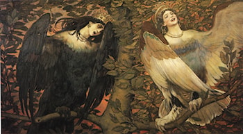 Birds of Sorrow and Joy by Victor Michailovitch Vasnetsov
