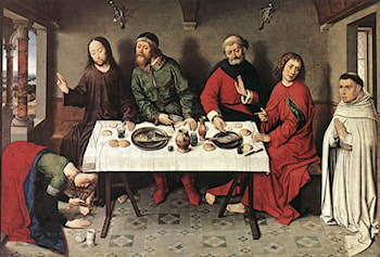 Christ in the House of Simon by Dirck Bouts