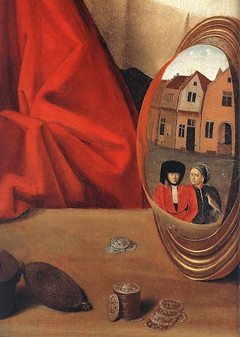 St Eligius in His Workshop (detail) by Petrus Christus
