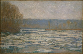Débâcle de la Seine, prés Bennecourt by Claude Monet