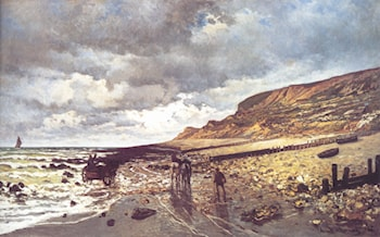 The Headland of the Hève at Low Tide by Claude Monet