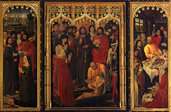 Resurrection Of Lazrus Triptych by Nicolas Froment