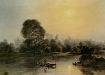 Windsor Castle from the Thames by William Fowler II