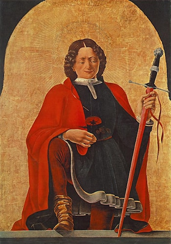 St Florian (Griffoni Polyptych) by Francesco del Cossa