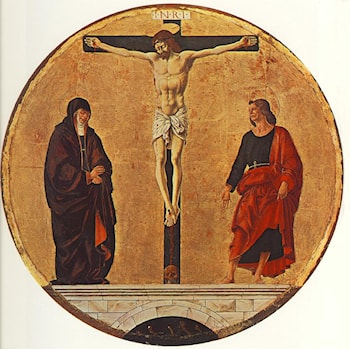 The Crucifixion (Griffoni Polyptych) by Francesco del Cossa