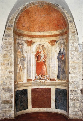 Apse fresco by Domenico Ghirlandaio