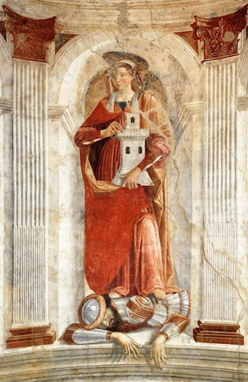 St Barbara by Domenico Ghirlandaio