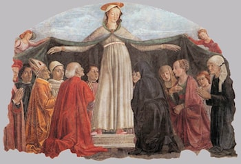 Madonna of Mercy by Domenico Ghirlandaio