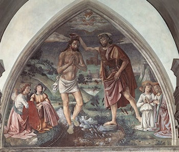 Baptism of Christ by Domenico Ghirlandaio