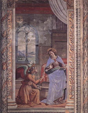 Annunciation by Domenico Ghirlandaio