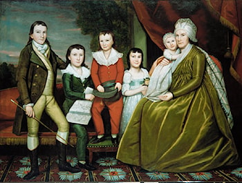 Mrs. Noah Smith and Her Children by Ralph Earl