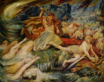 The Death of Siegfried by Henri Degroux