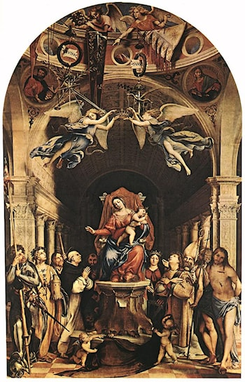 Madonna with the Child and Saints by Lorenzo Lotto