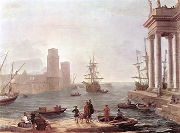 Departure of Ulysses from the Land of the Feaci by Claude Lorrain
