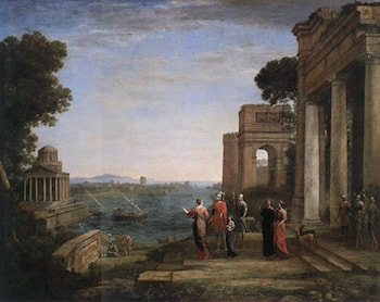 Aeneas' Farewell to Dido in Carthage by Claude Lorrain