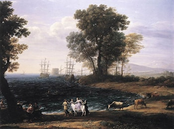 Coast Scene with the Rape of Europa by Claude Lorrain