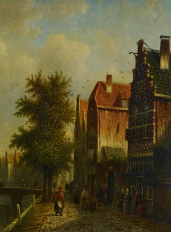 Beside The Canal by Johannes Franciscus Spohler