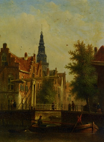 Bridge Over The Canal by Johannes Franciscus Spohler
