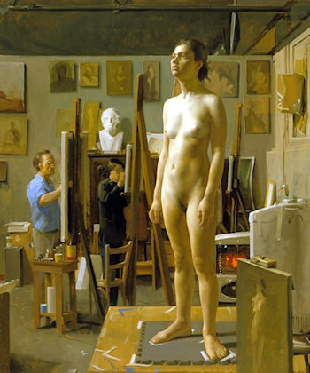 In the Atelier by Jacob Collins
