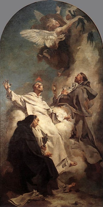 Three Dominican Saints by Giovanni Battista Piazzetta