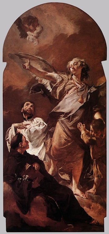 The Guardian Angel with Sts Anthony of Padua and Gaetano Thiene by Giovanni Battista Piazzetta